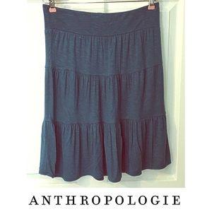 Deletta Anthropologie Tiered Skirt Soft Stretch S